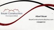 BAUER CONSTRUCTION
